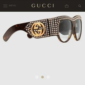 Gucci Actate Sunglasses with Crystals